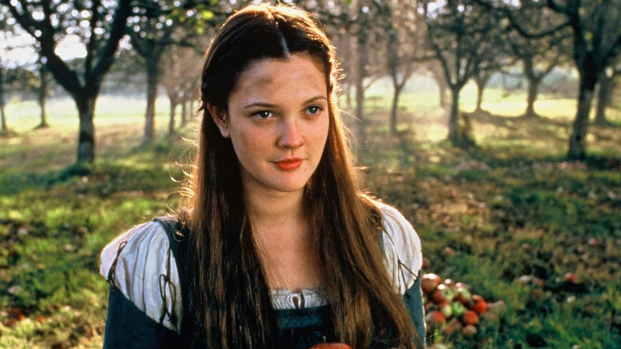 Drew Barrymore as Danielle, Cinderella with a modern revision in EverAfter (1998)