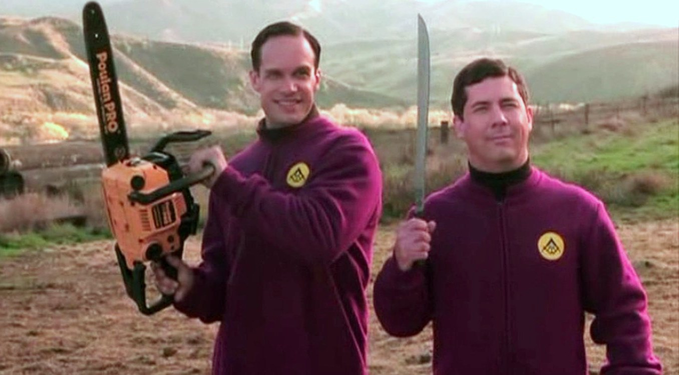 Diedrich Bader and Chris Parnell in Evil Alien Conquerors (2003)