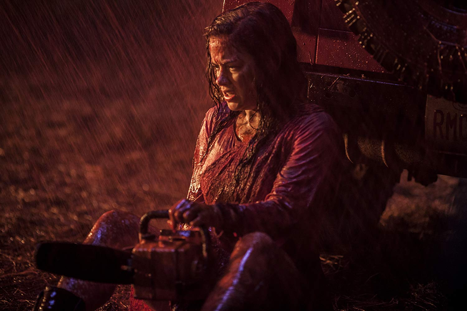 Jane Levy picks up the chainsaw in Evil Dead (2013)