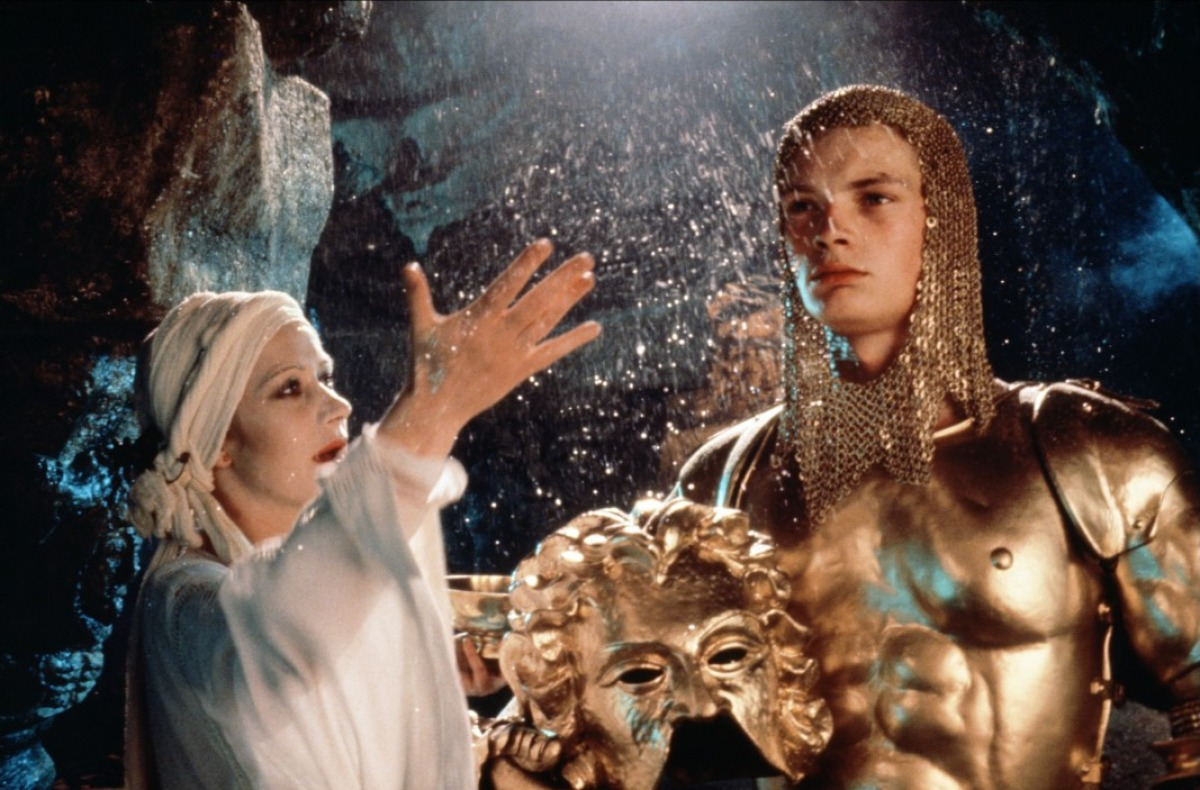 Morgana (Helen Mirren) and her son Mordred (Robert Addie) in Excalibur (1981)