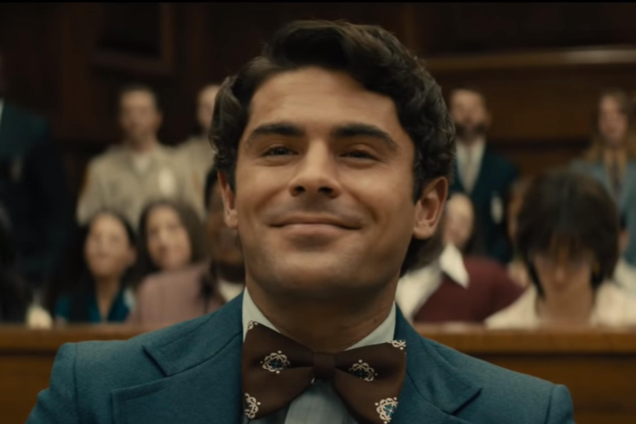 Ted Bundy (Zac Efron), acting as his own lawyer during the Florida trial in Extremely Wicked, Shockingly Evil and Vile (2019)
