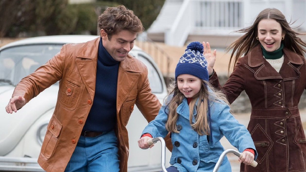 Ted Bundy (Zac Efron) with girlfriend Liz Kendall (Lily Collins) and her daughter in Extremely Wicked, Shockingly Evil and Vile (2019)