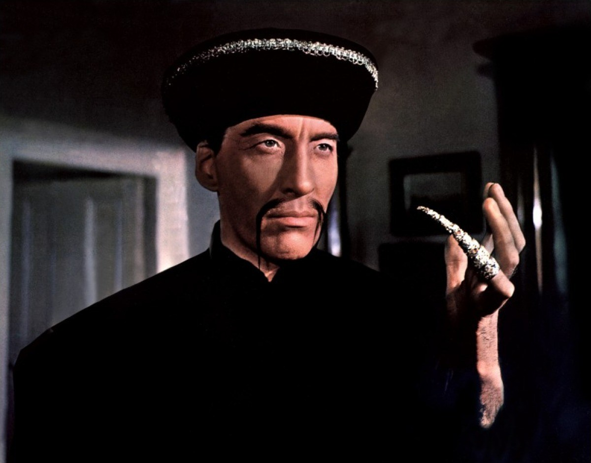Christopher Lee as Fu Manchu in The Face of fu Manchu (1965)