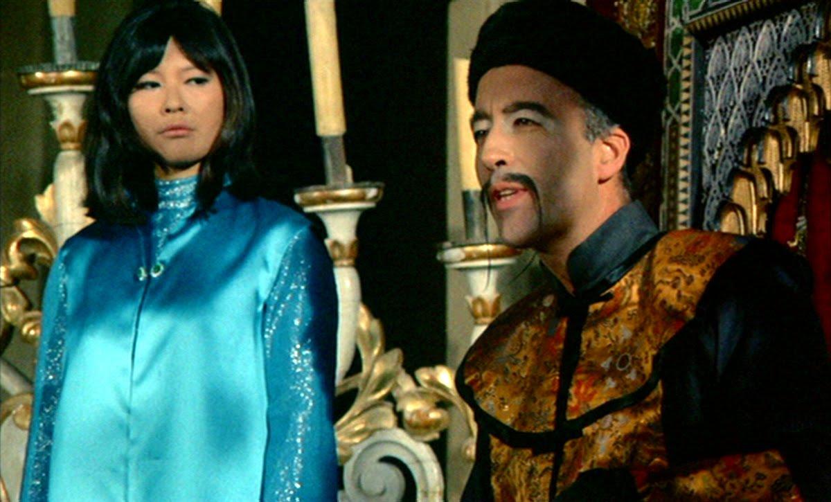 Fu Manchu (Christopher Lee) and daughter Lin Tang (Tsai Chin) in The Face of fu Manchu (1965)