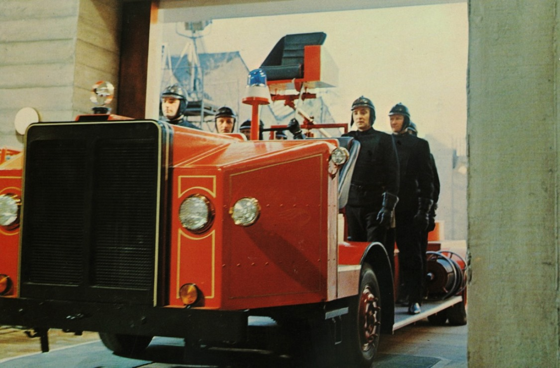 The Firemen off to burn some books in Fahrenheit 451 (1966)