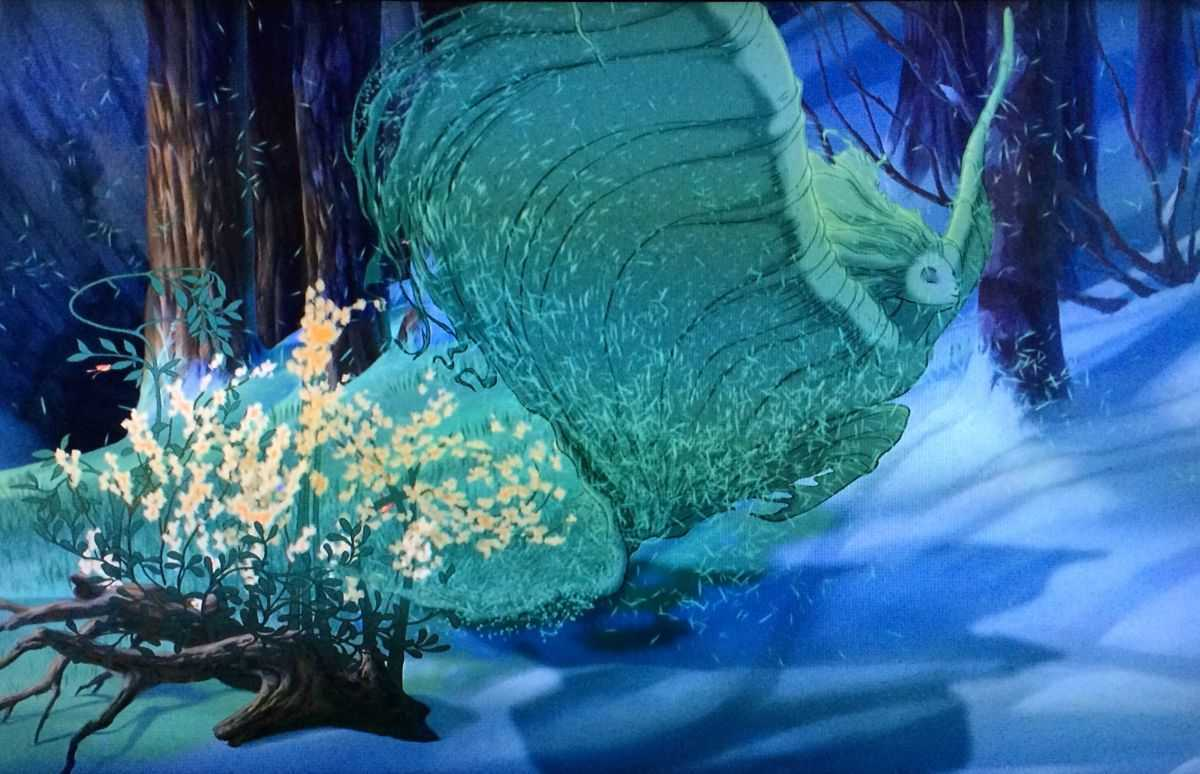 The spirit of spring moves across the land in the Firebird segment in Fantasia 2000 (1999)