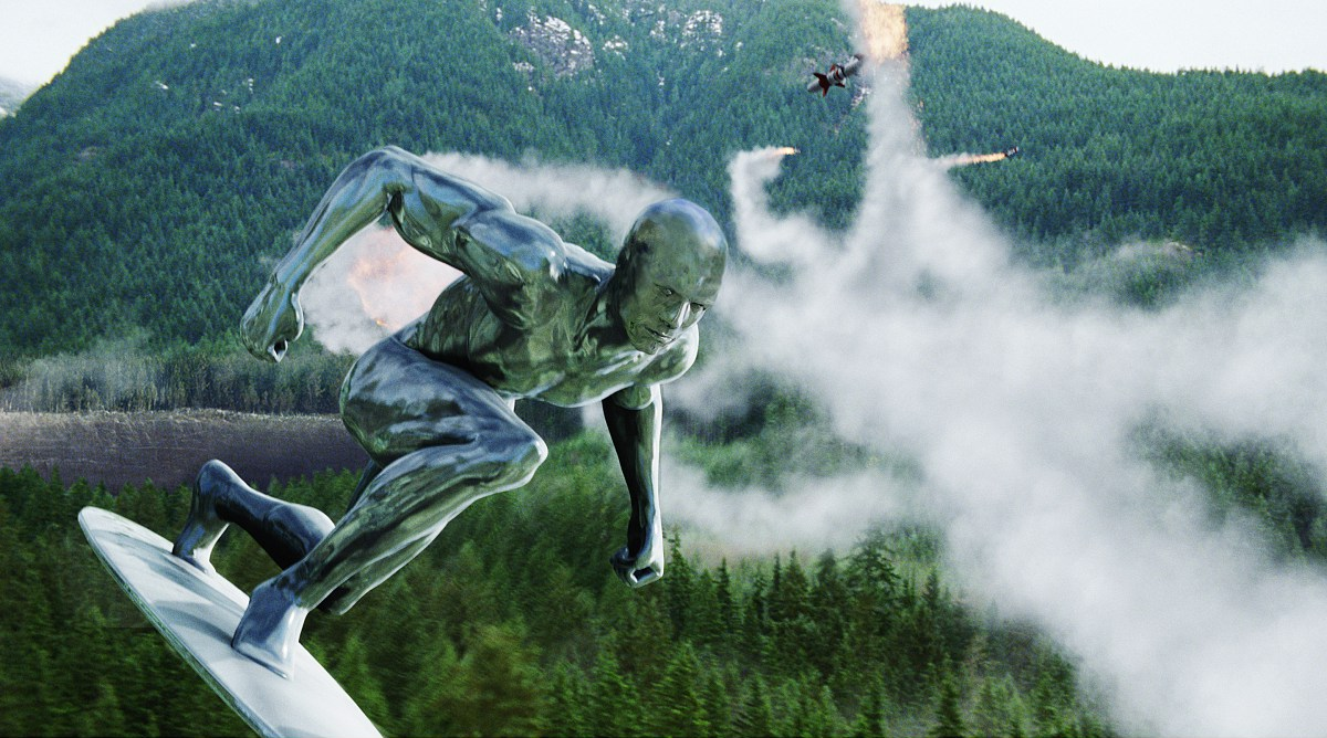 The Silver Surfer in Fantastic Four: Rise of the Silver Surfer (2007)