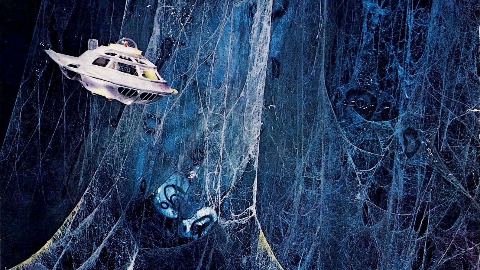 The submarine enters the brain in Fantastic Voyage (1966)