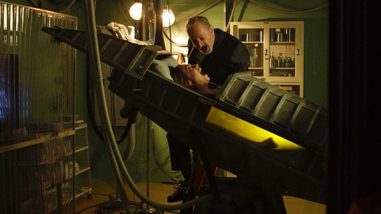 Robert Englund and Fiona Dourif in Fear Clinic (2015)