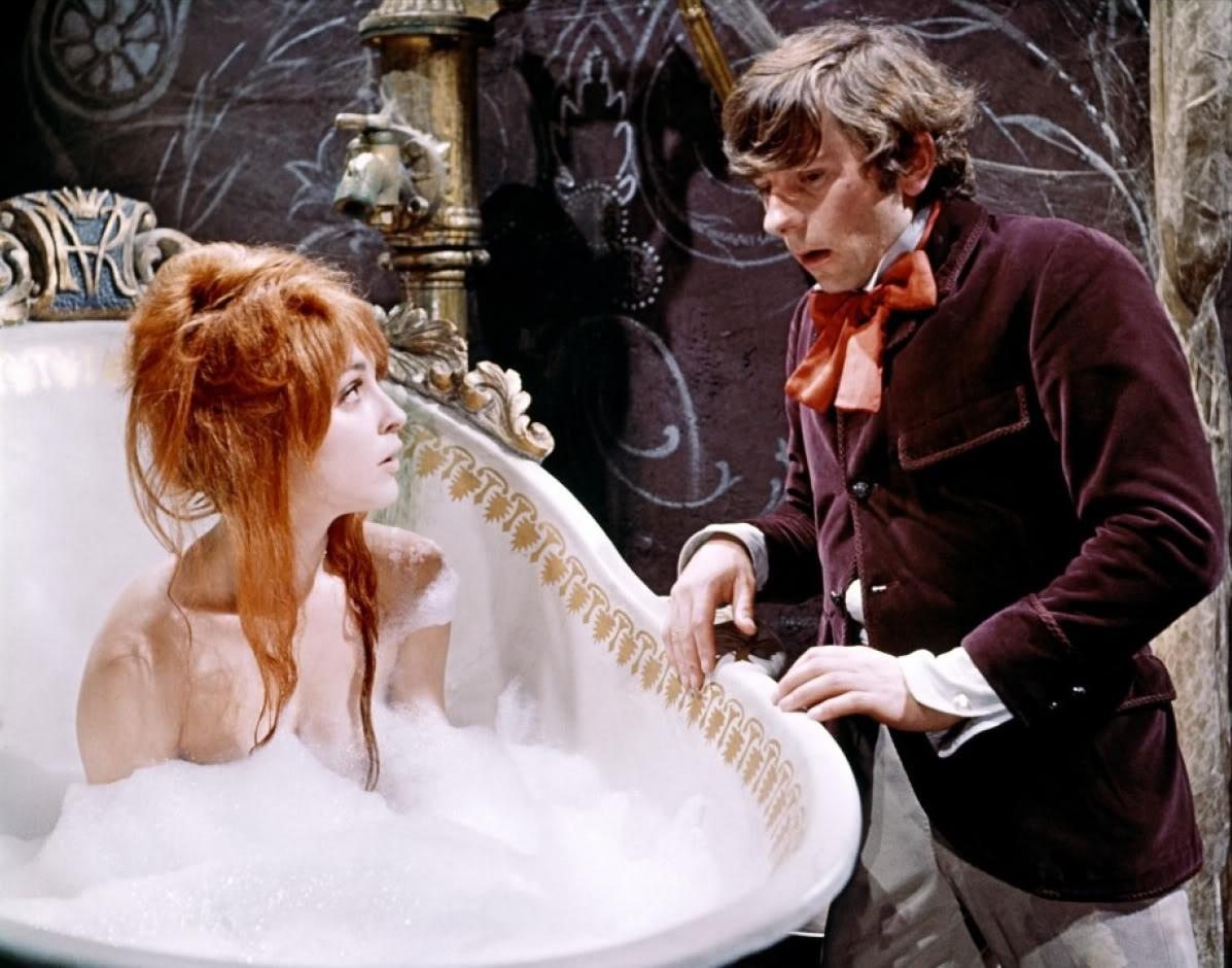 Alfred (Roman Polanski) meets Sarah (Sharon Tate - later to become Polanski's wife) in The Fearless Vampire Killers (1967)