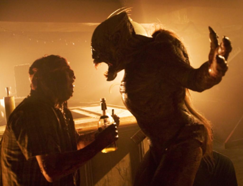 Judah Friedlander encounters one of the monsters in Feast (2006)