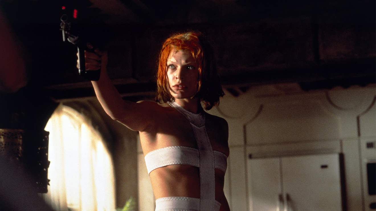Milla Jovovich as Leeloo, the genetically engineered supreme being in The Fifth Element (1997)