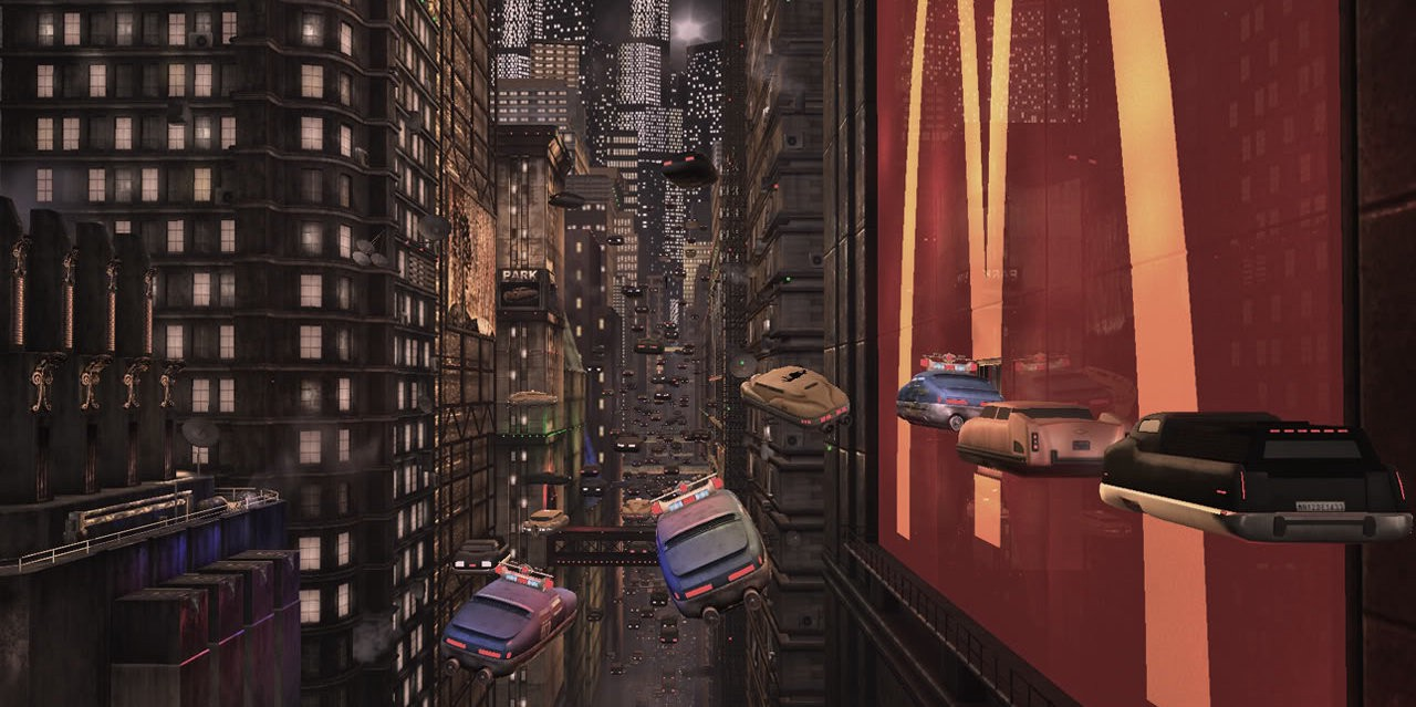 New York City of the future in The Fifth Element (1997)