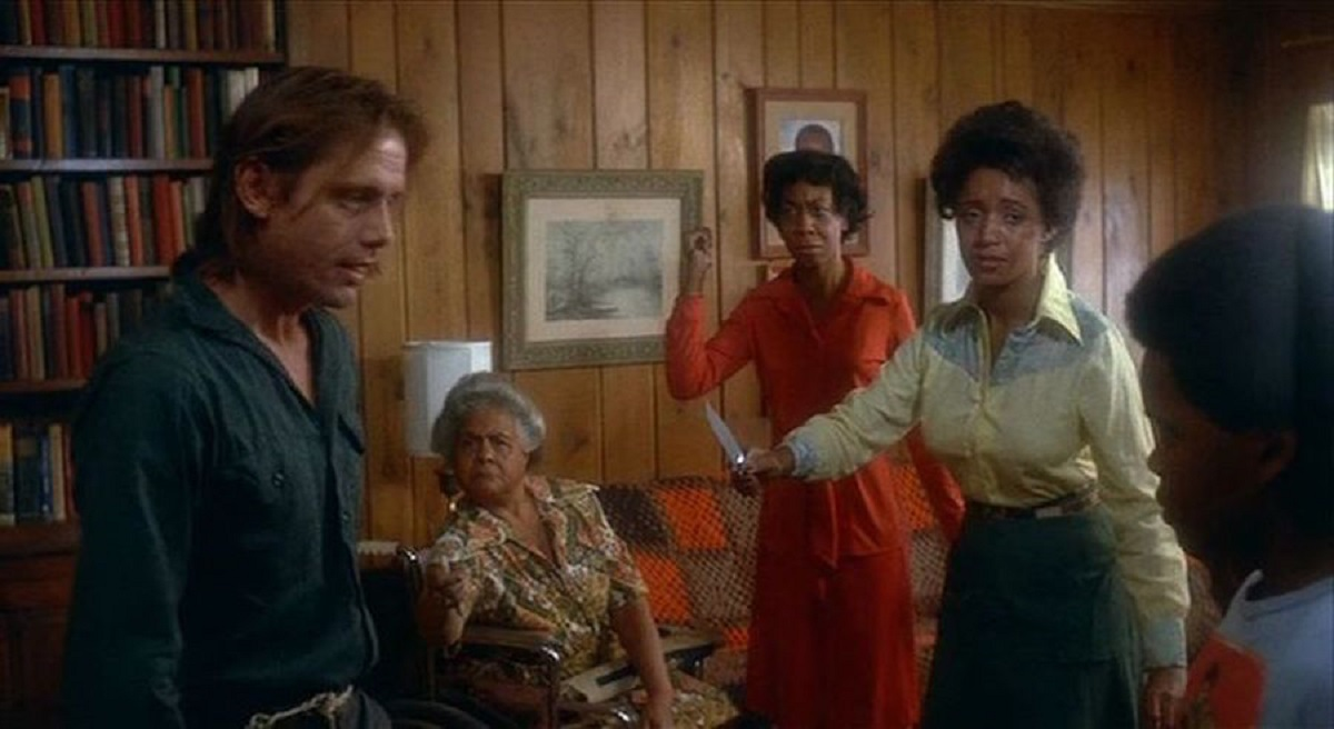 William Sanderson, Lela Small, Bonni Martin, Catherine Peppers and Reginald Bythewood in Fight For Your Life (1977)