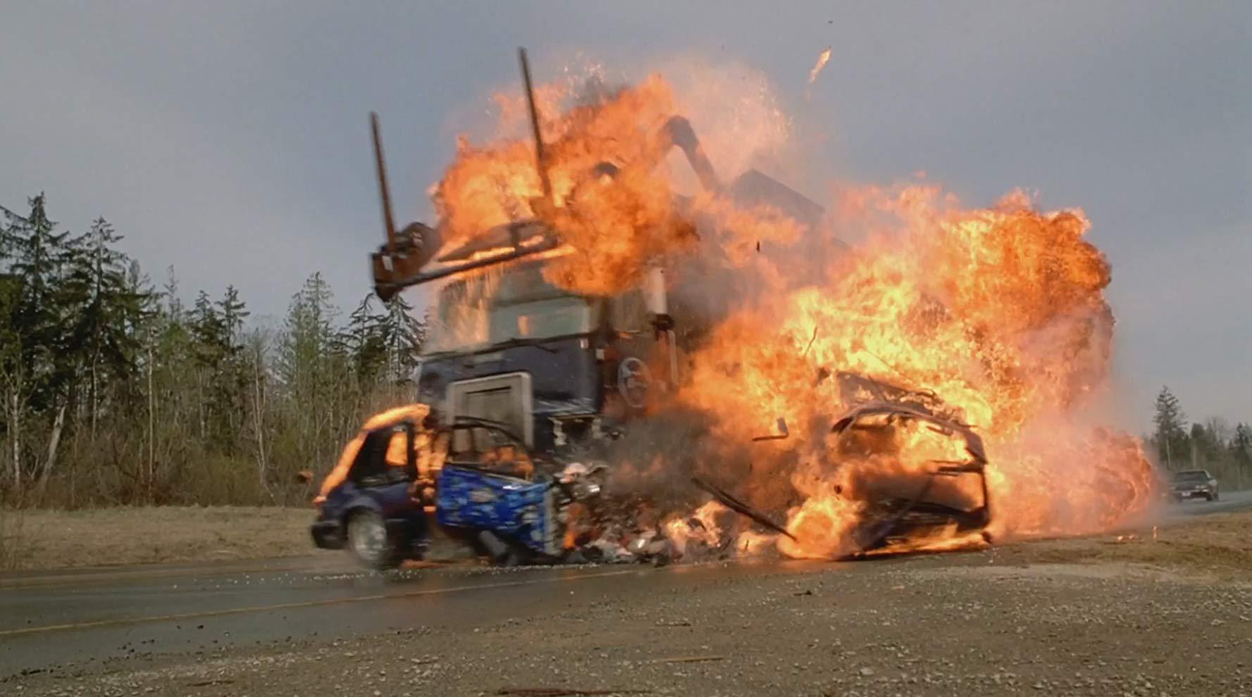 Fatal highway pile-up in Final Destination 2 (2003)
