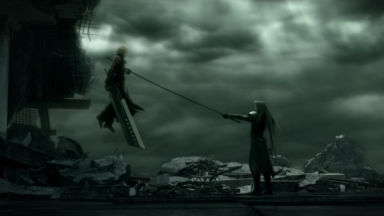 Cloud vs Kadaj in Final Fantasy VII: Advent Children (2005)