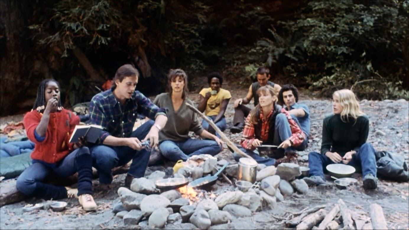 Akosua Busia, Mark Metcalf, Rachel Ward, Ernest Harden, Jr., John Friedrich, Cindy Harrell, Lewis Smith and Daryl Hannah in The Final Terror (1983)