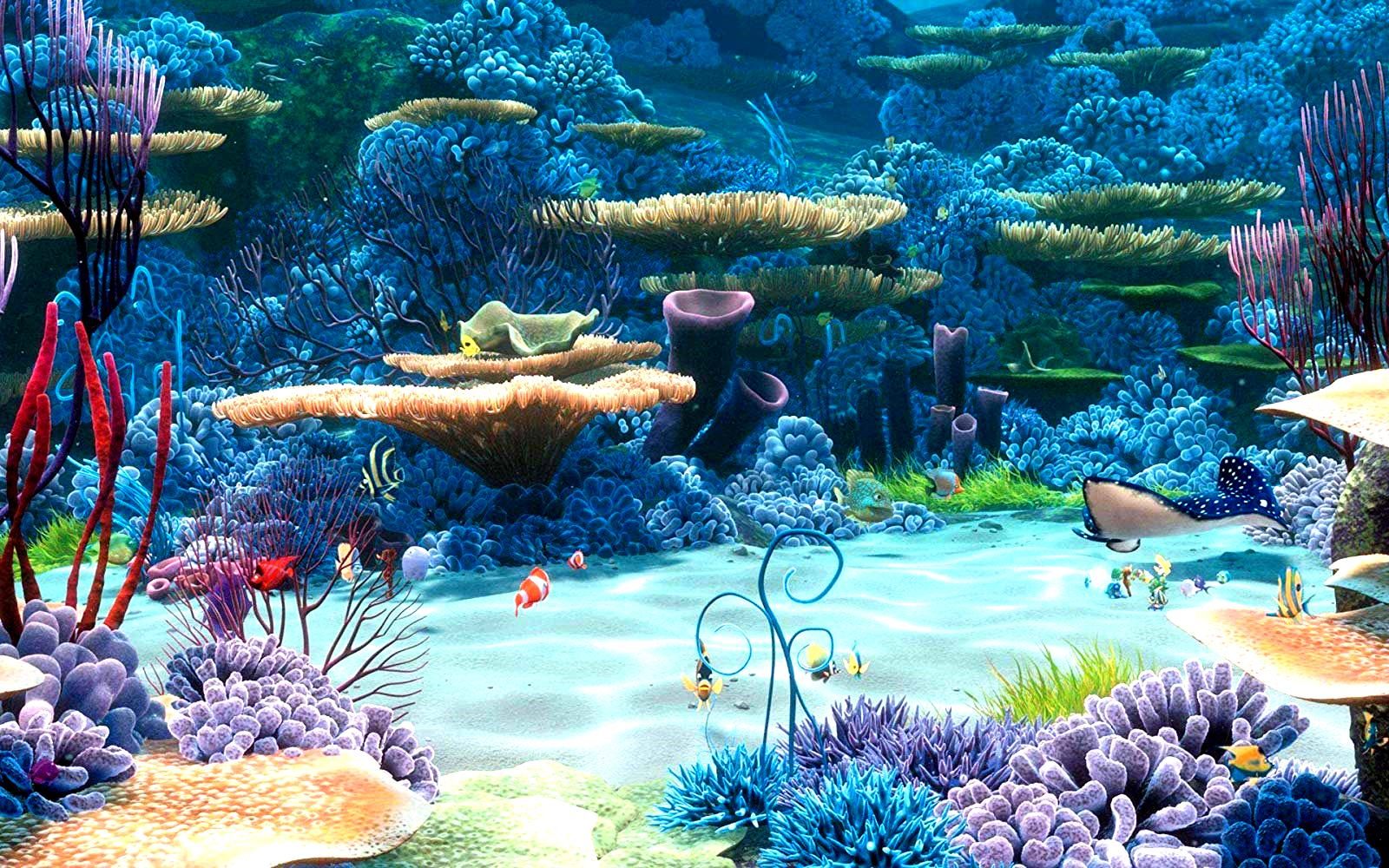 An example of the film's amazingly colourful underwater palette in Finding Nemo (2003)