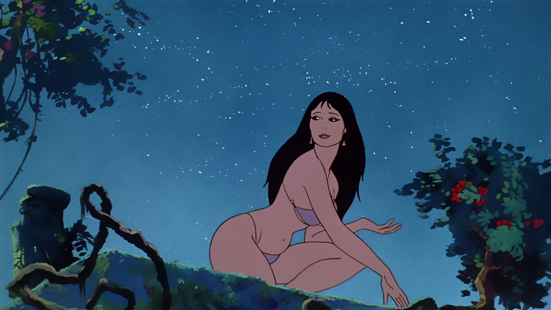 Princess Teegra (voiced by Cynthia Leake) Fire and Ice (1983) - where Frank Frazetta made the discovery that real women weren't quite the way he'd been drawing them for years