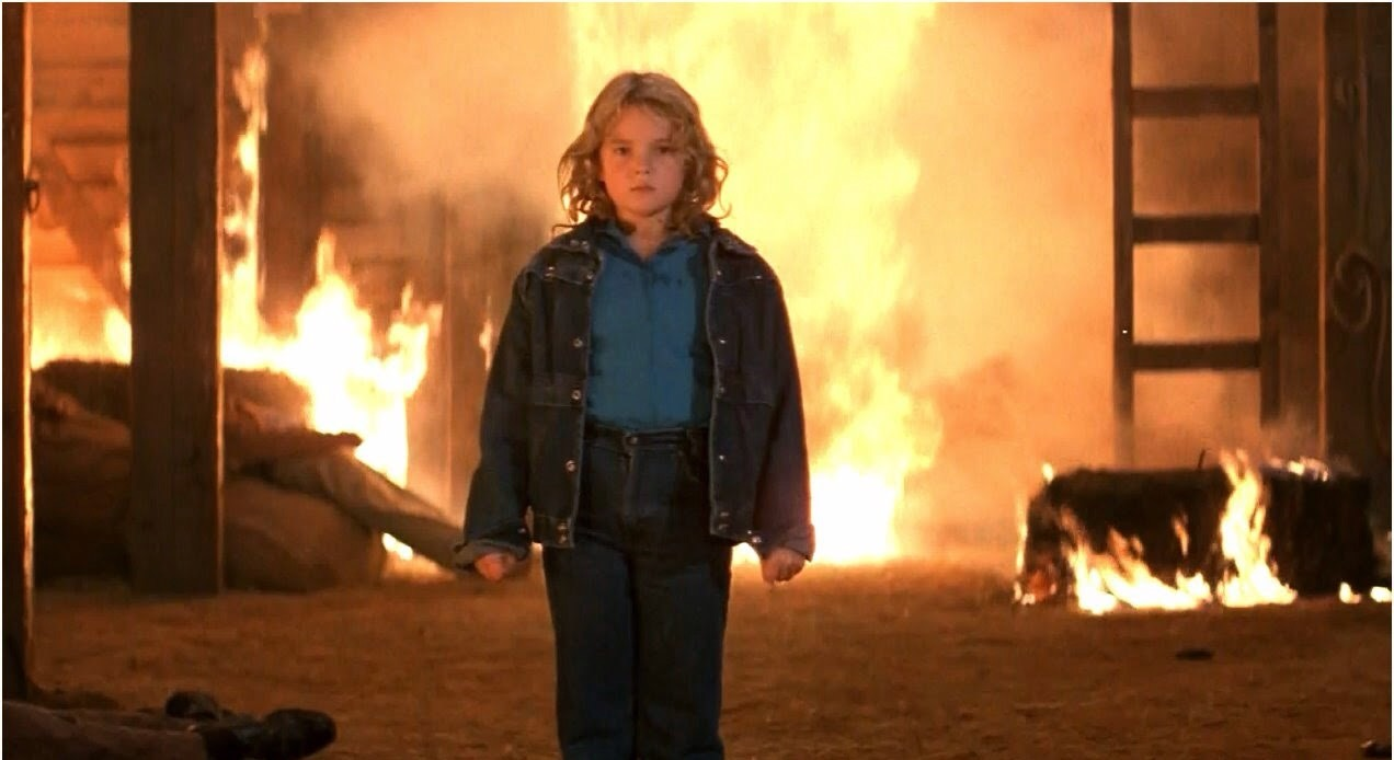 Drew Barrymore as the pyrokinetic Charlie McGee in Firestarter (1984)