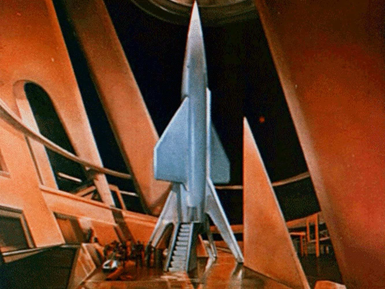 The rocket in Flight to Mars (1951)