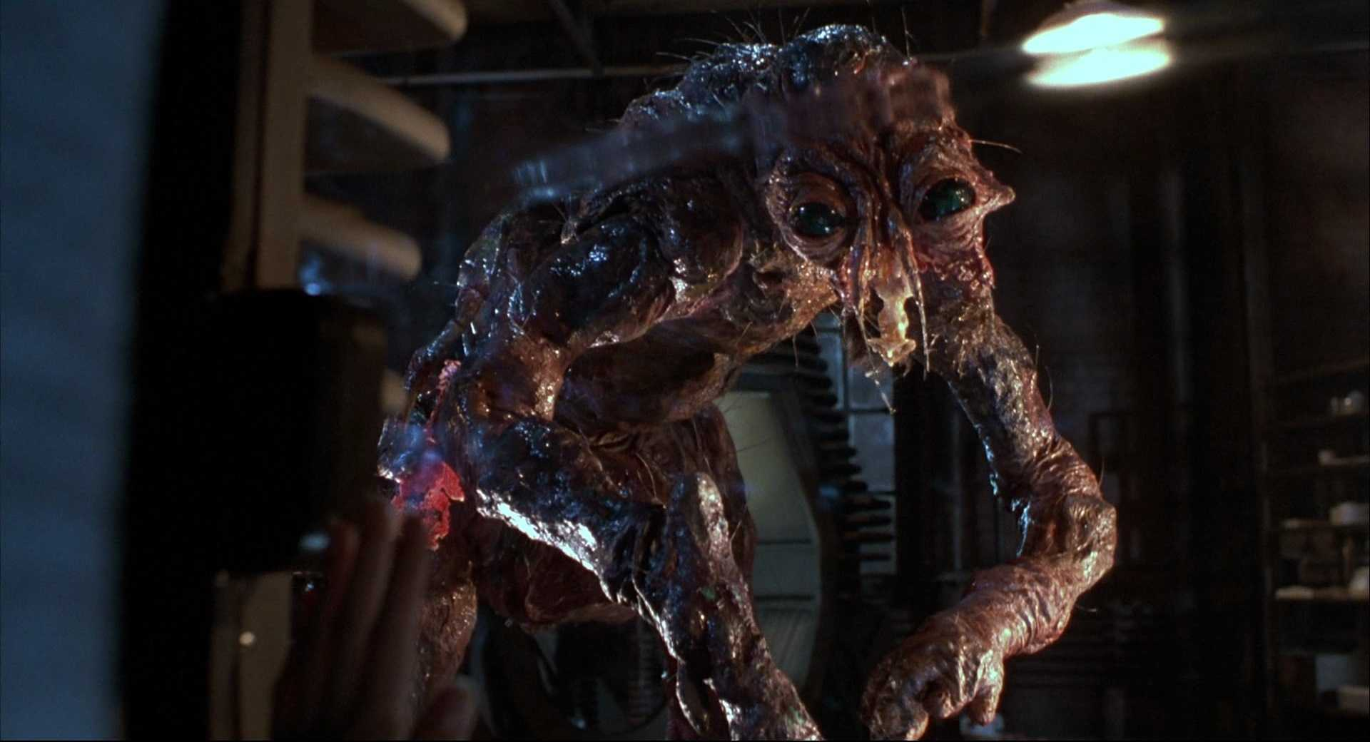 The fully mutated Brundlefly in The Fly (1986)
