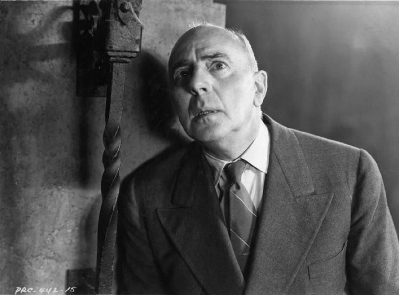 Mad archaeologist George Zucco in The Flying Serpent (1946)