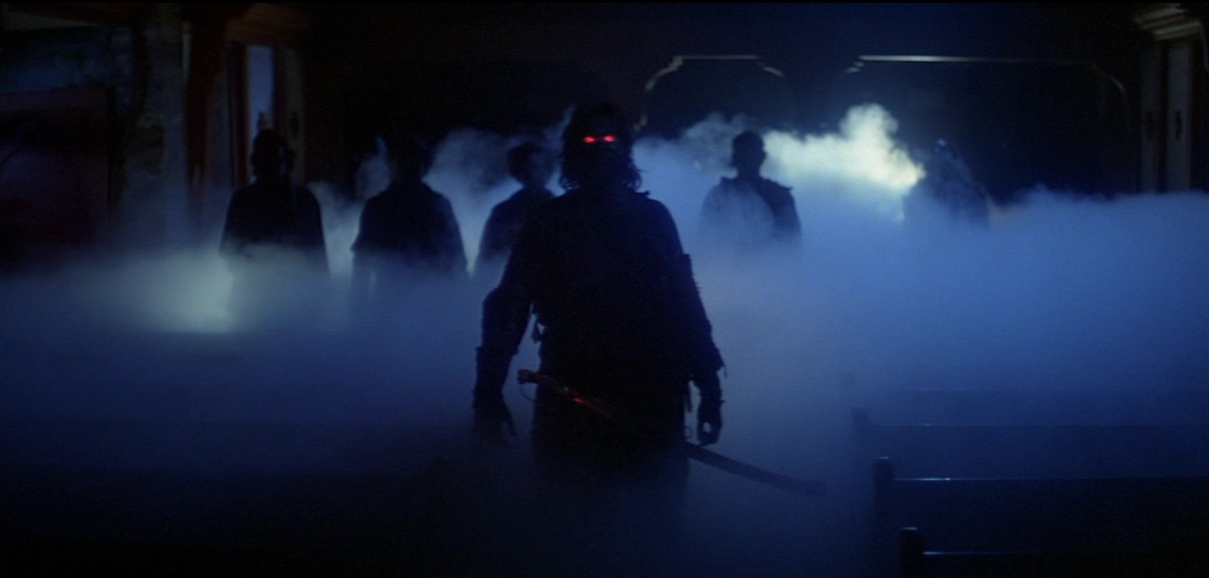 The ghost sailors appear in the church in The Fog (1980)