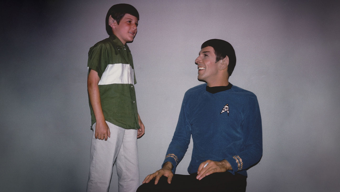 A young Adam Nimoy and his father Leonard in Spock costume in For the Love of Spock (2016)