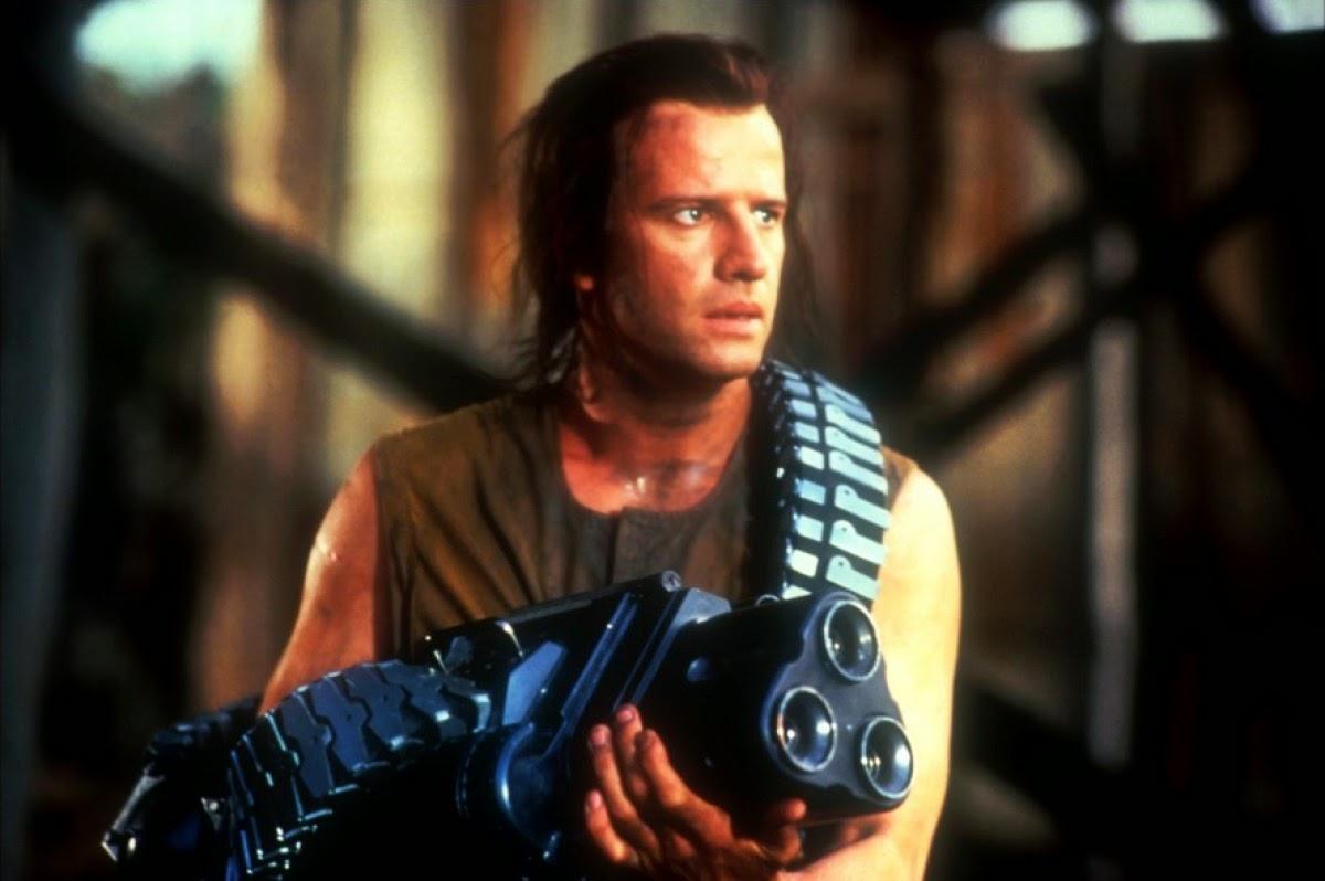 Christopher Lambert conducts a futuristic prison breakout in Fortress (1993)
