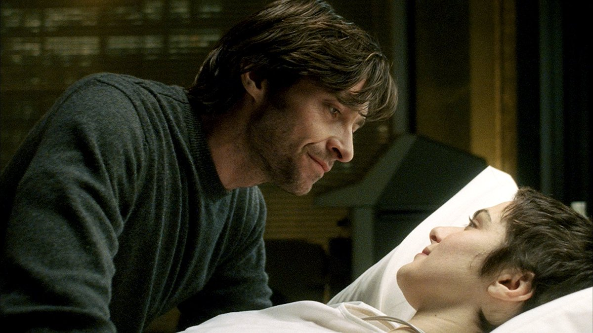 Present-day scientist Hugh Jackman and his dying wife Rachel Weisz in The Fountain (2006)