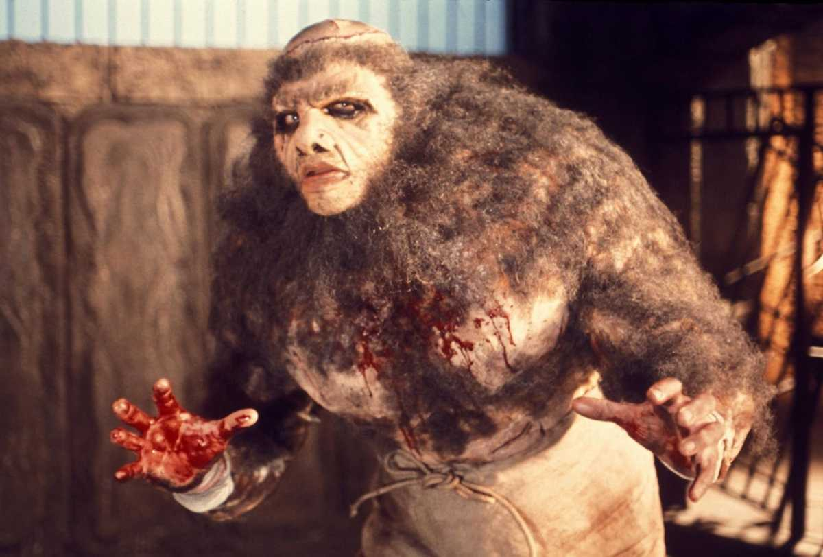 Dave Prowse as the monster in Frankenstein and the Monster from Hell (1973)