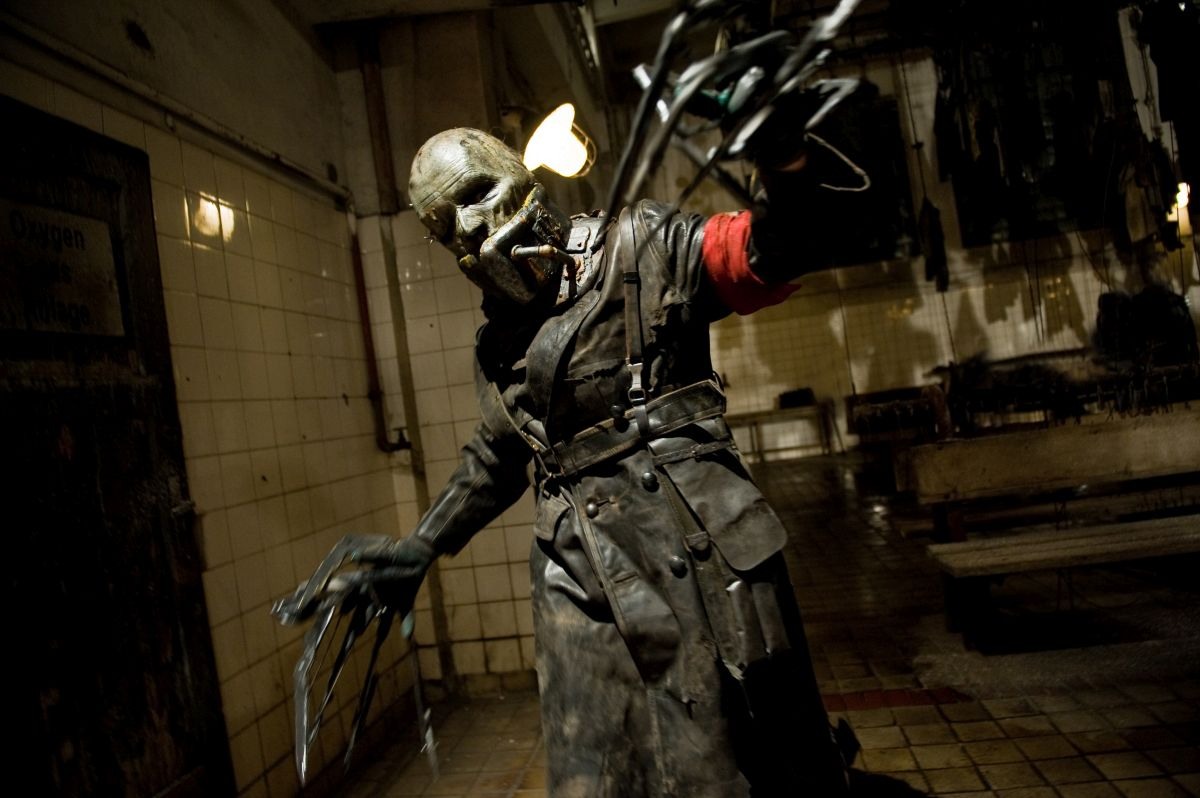 One of the phantasmagoric creations in the laboratory in Frankenstein's Army (2013)