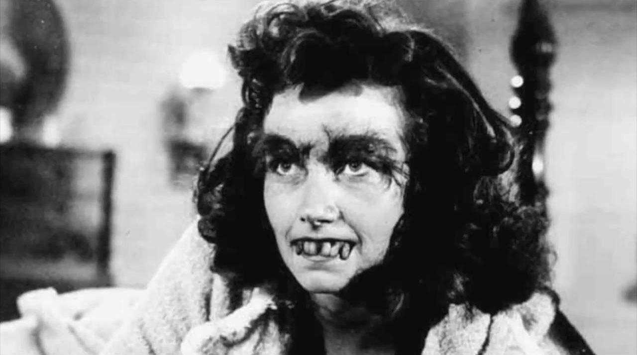 Sandra Knight as the female Frankenstein monster in Frankenstein's Daughter (1958)