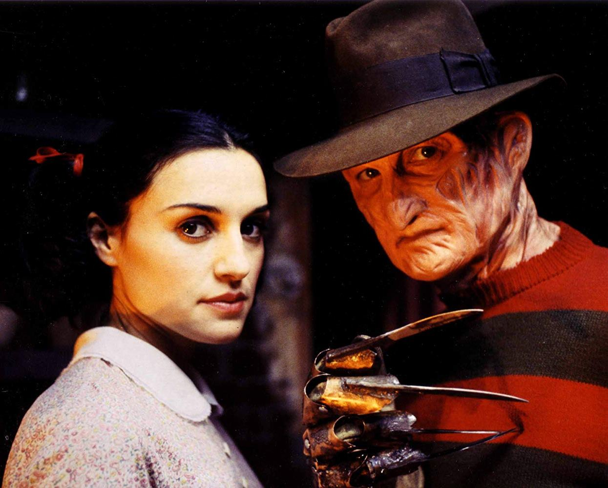 Heroine Lisa Zane and Freddy Krueger (Robert Englund) in Freddy's Dead: The Final Nightmare (1991)
