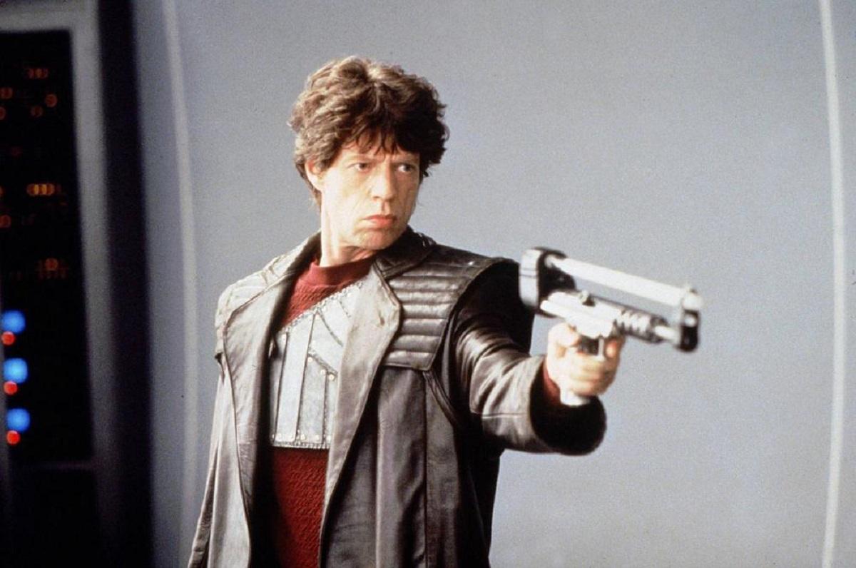 Mick Jagger as the bounty hunter Vacendak in Freejack (1992)