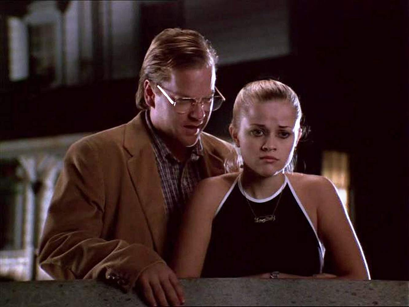 Reese Witherspoon menaced by the Big Bad Wolf, Kiefer Sutherland's serial killer Bob Wolverton in Freeway (1996)
