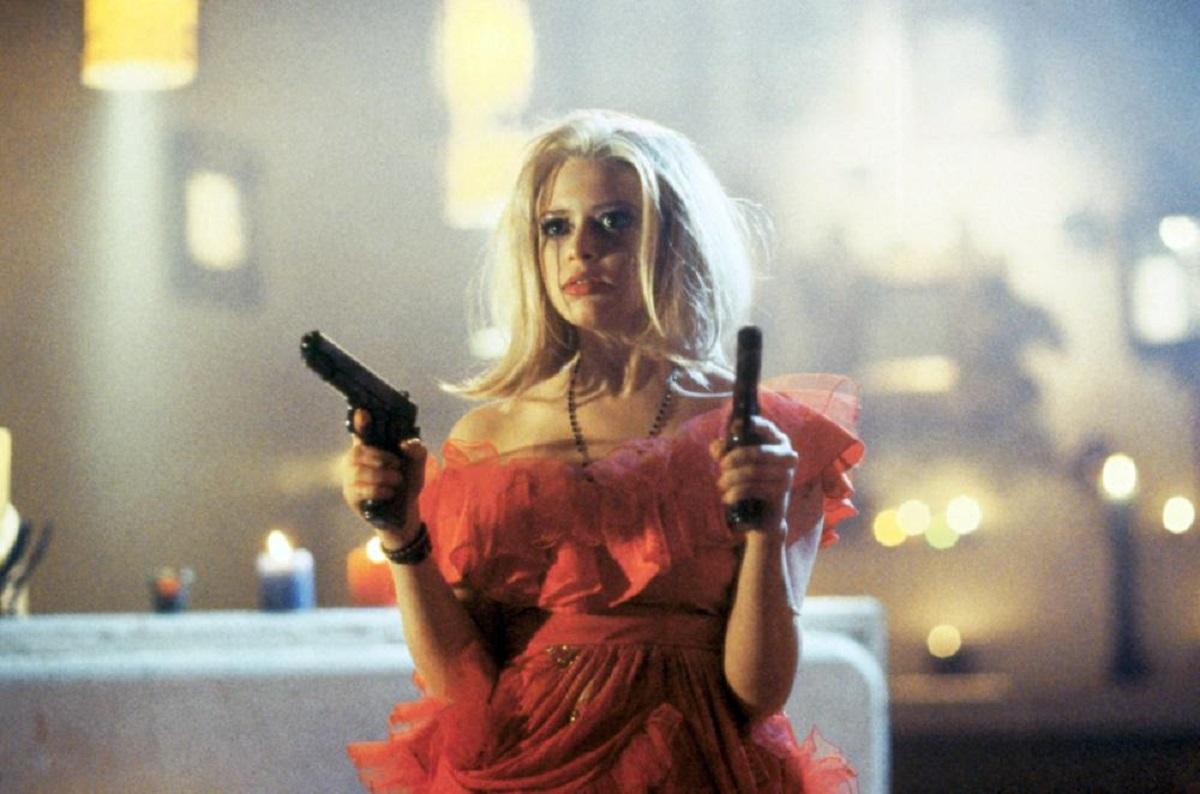 A gun-toting Natasha Lyonne in Freeway II: Confessions of a Trickbaby (1999)
