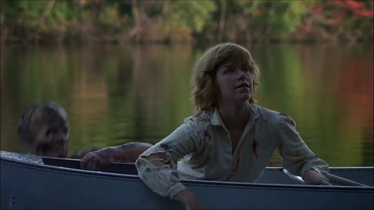 The first appearance of Jason - Adrienne King in the dream sequence in Friday the 13th (1980)