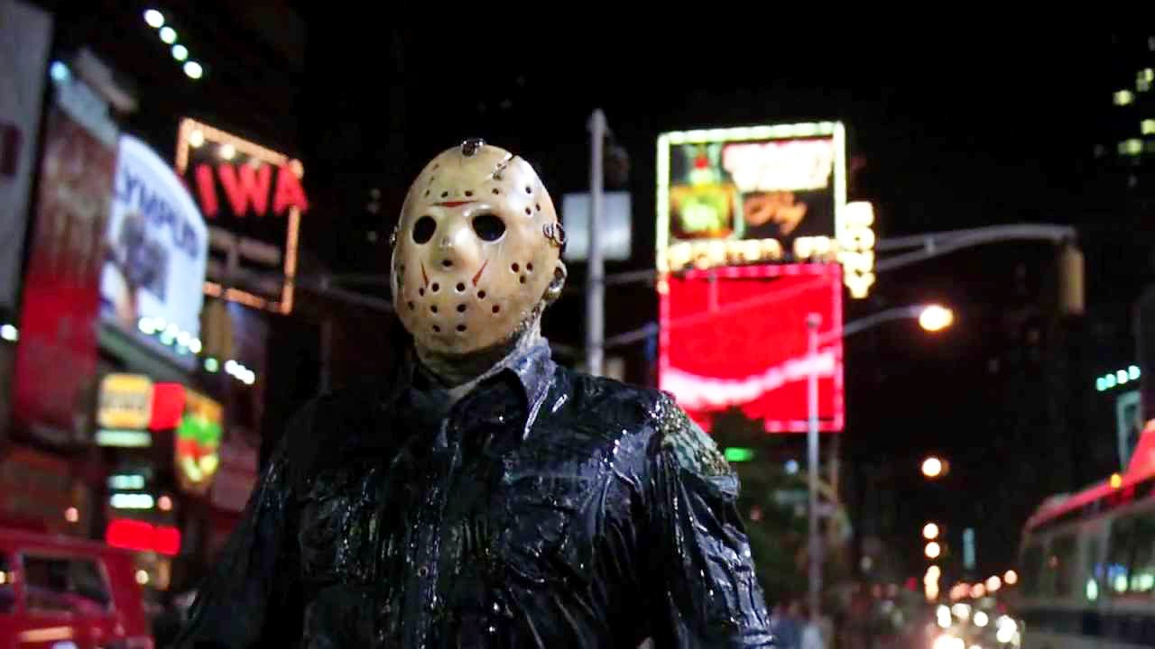 Jason Voorhees (Kane Hodder) stalks New York City in Friday the 13th Part VIII: Jason Takes Manhattan (1989)