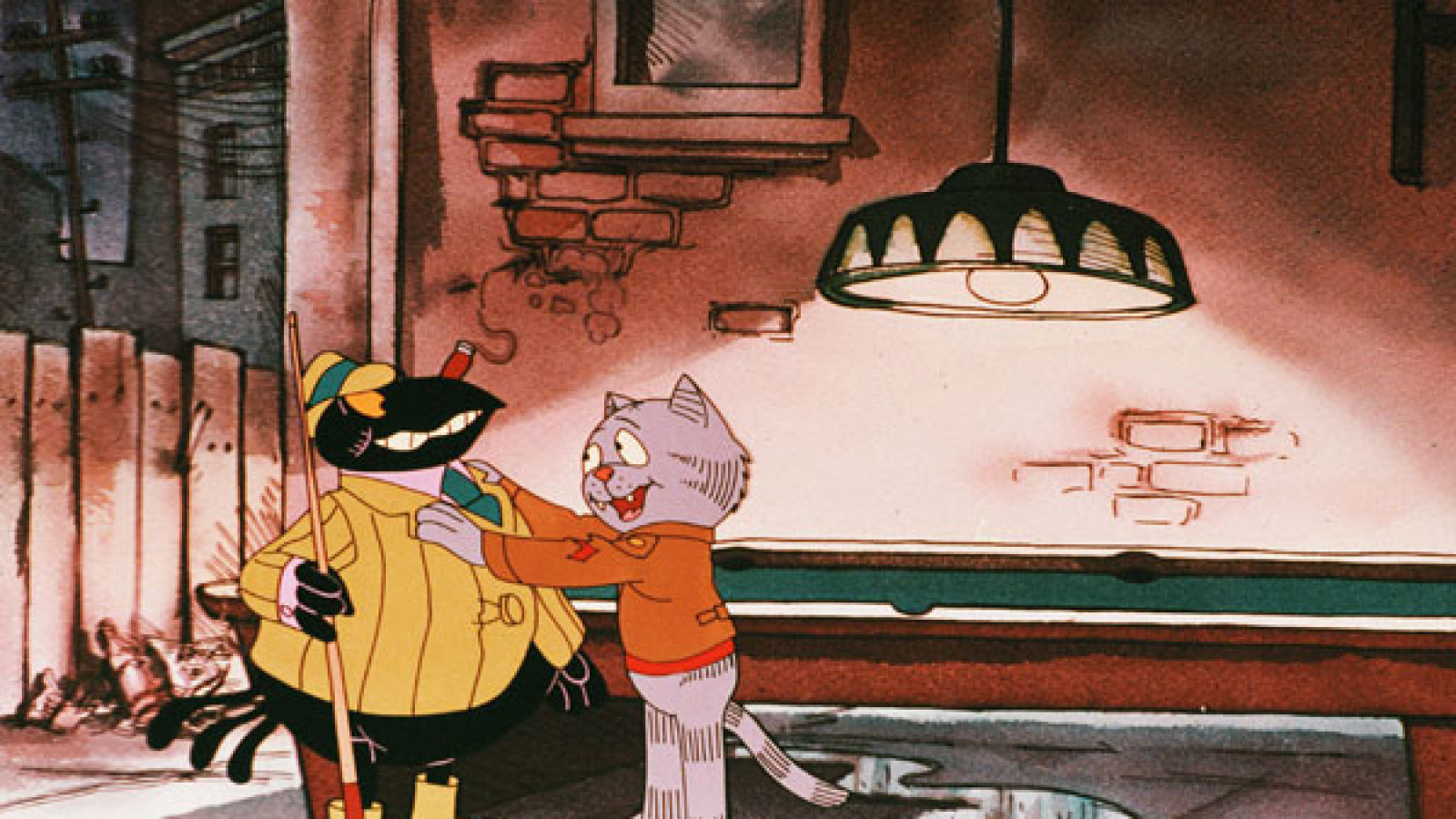 Fritz and one of the Black crows of Harlem in Fritz the Cat (1972)