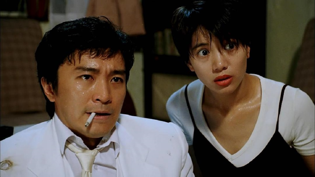 Spy Stephen Chow and Anita Yuen in From Beijing with Love (1994)