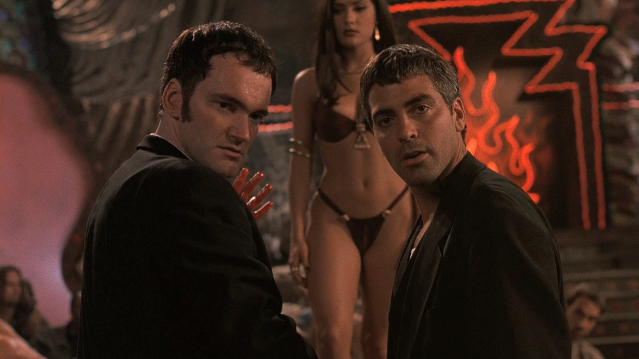 Brothers Richard and Seth Gecko (Quentin Tarantino, George Clooney) in From Dusk Till Dawn (1996)