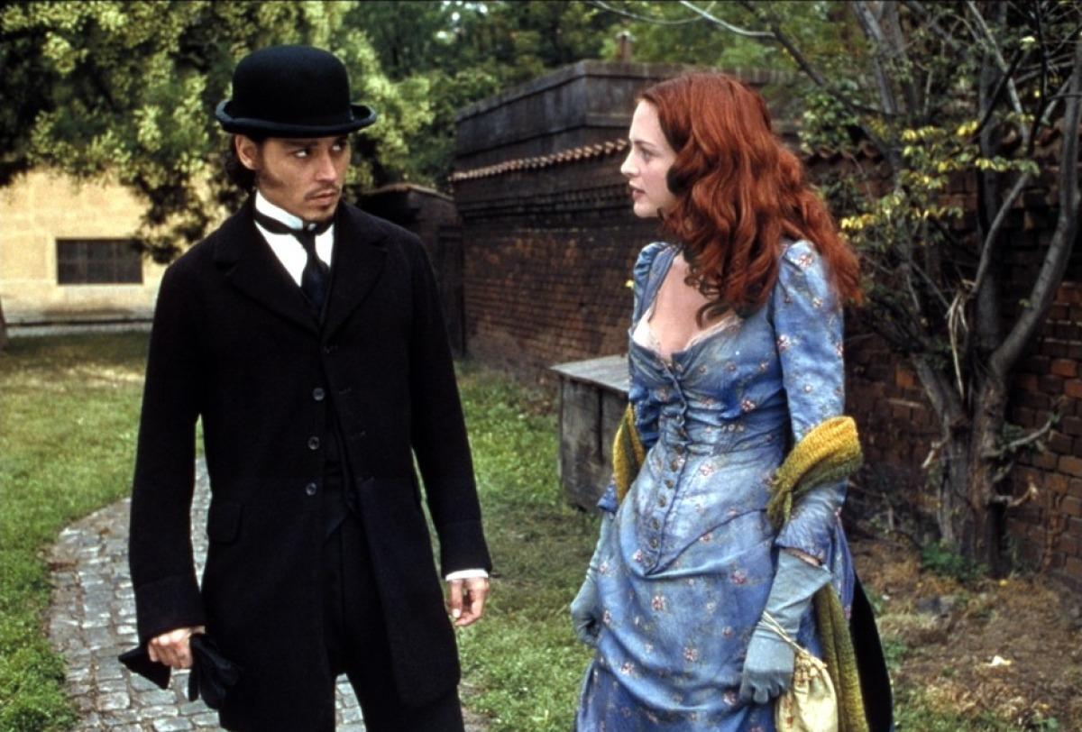 Johnny Depp as Inspector Abberline, Heather Graham as Mary Kelly in From Hell (2001)