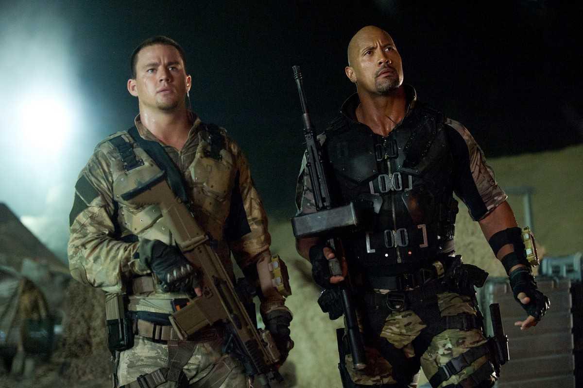 Channimg Tatum as Duke and Dwayne Johnson as Roadblock in G.I. Joe: Retaliation (2013)