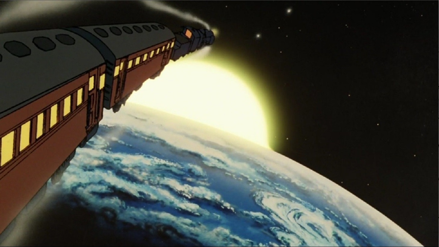 The Galaxy Express 999 takes off bound for the stars in Galaxy Express 999 (1979)