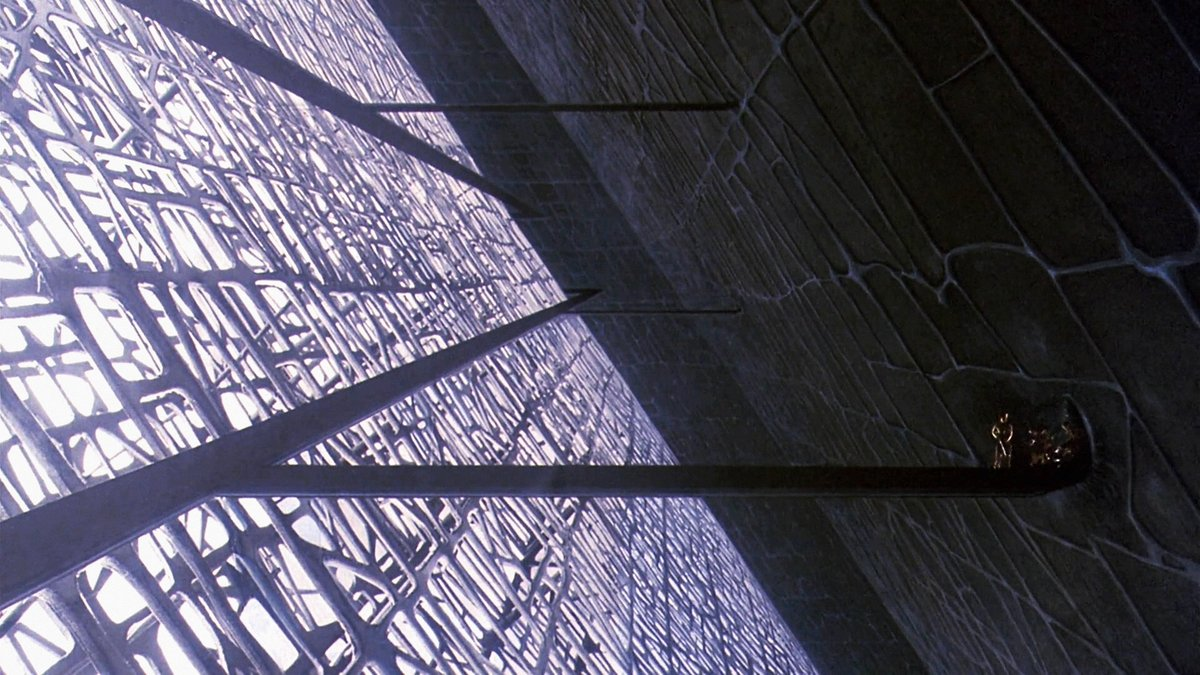 Entering the alien pyramid in Galaxy of Terror (1981) - production design work from James Cameron