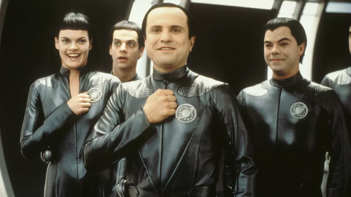 The Thermians - Missi Pyle, Patrick Breen, Enrico Colantoni and Jed Rees - in GalaxyQuest (1999)