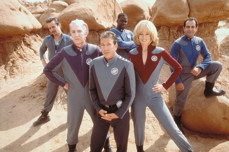 Alan Rickman, Tim Allen, Sigourney Weaver, Sam Rockwell, Daryl Mitchell and Tony Shalhoub in GalaxyQuest (1999)