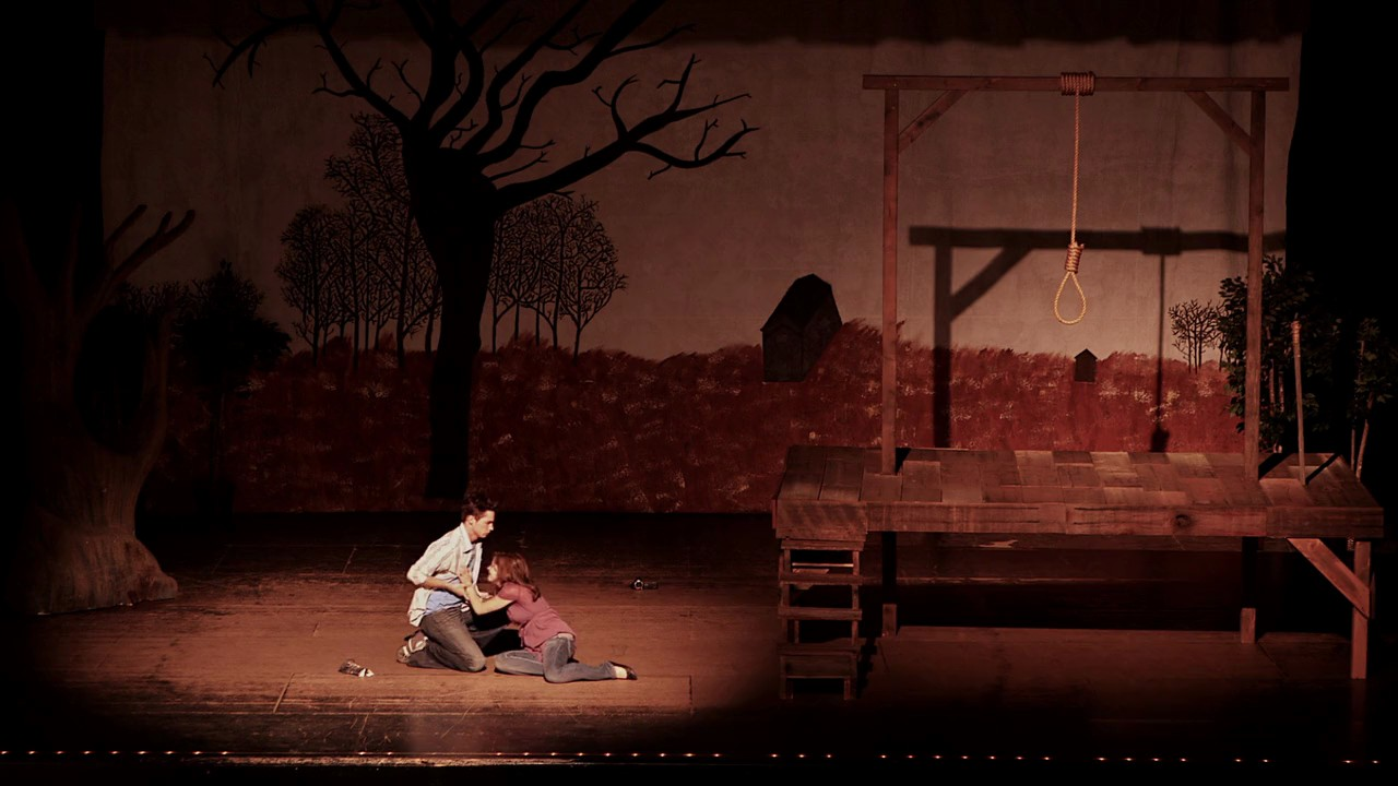 The haunting of a high school play in The Gallows (2015)